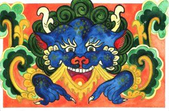 Illustrated Postcards. Beijing #1.