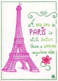 Illustrated postcards. Paris #1.