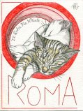 Illustrated postcards. Rome #2.