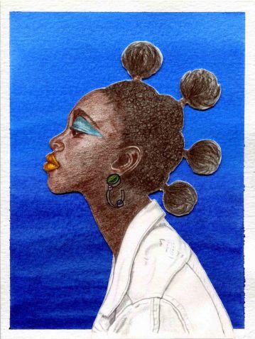 Illustrated Postcards. Women #1.